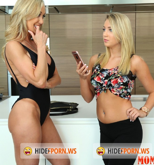 Amazing MILF and teen Brandi Edwards and Kyra Steele sharing a boner  781559