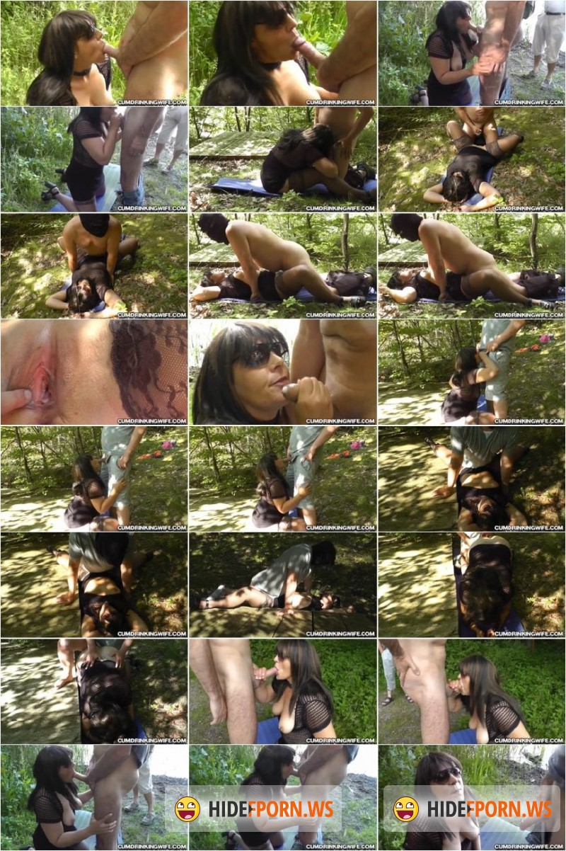 CumDrinkingWife.com - Marion - More dogging cum slut in july 2015 Part 2 (Final Part) [SD 360p]