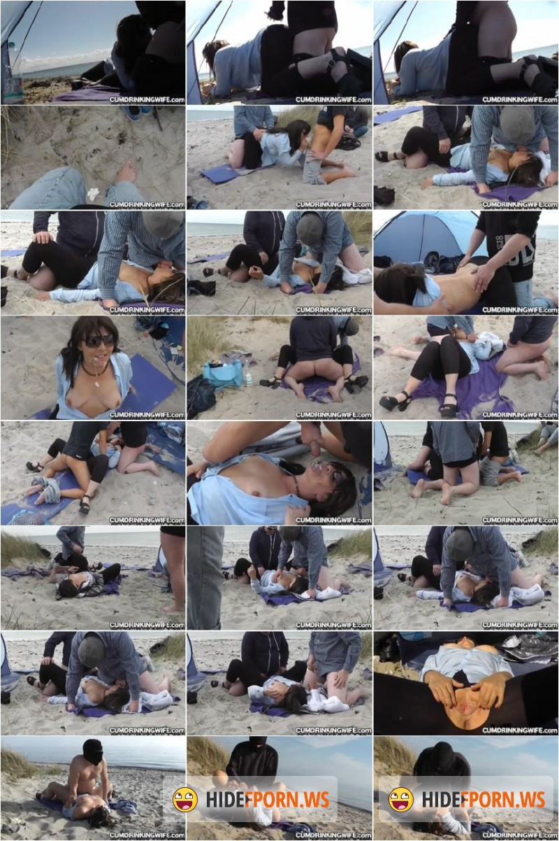 CumDrinkingWife.com - Marion - Creampie gangbang on the beach in april 2015 chapter 3 (final chapter) [SD 360p]