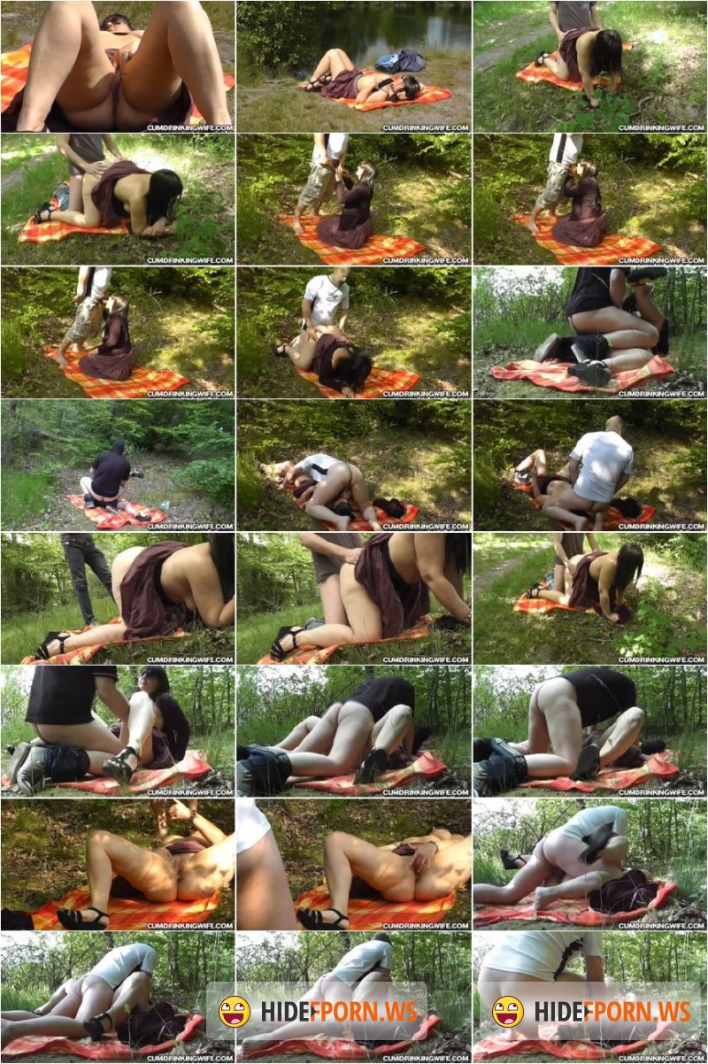CumDrinkingWife.com - Marion - Creampie slut at the lake in may 2015 [SD 360p]