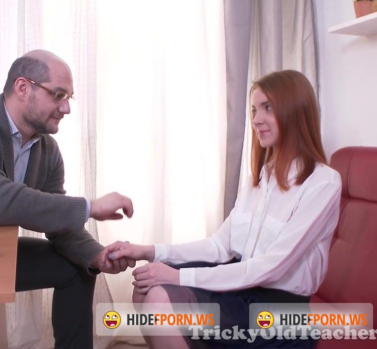 TrickyOldTeacher.com - Sandra - Sexy student Sandra is called into the principals office to fuck and suck cock [HD 720p]