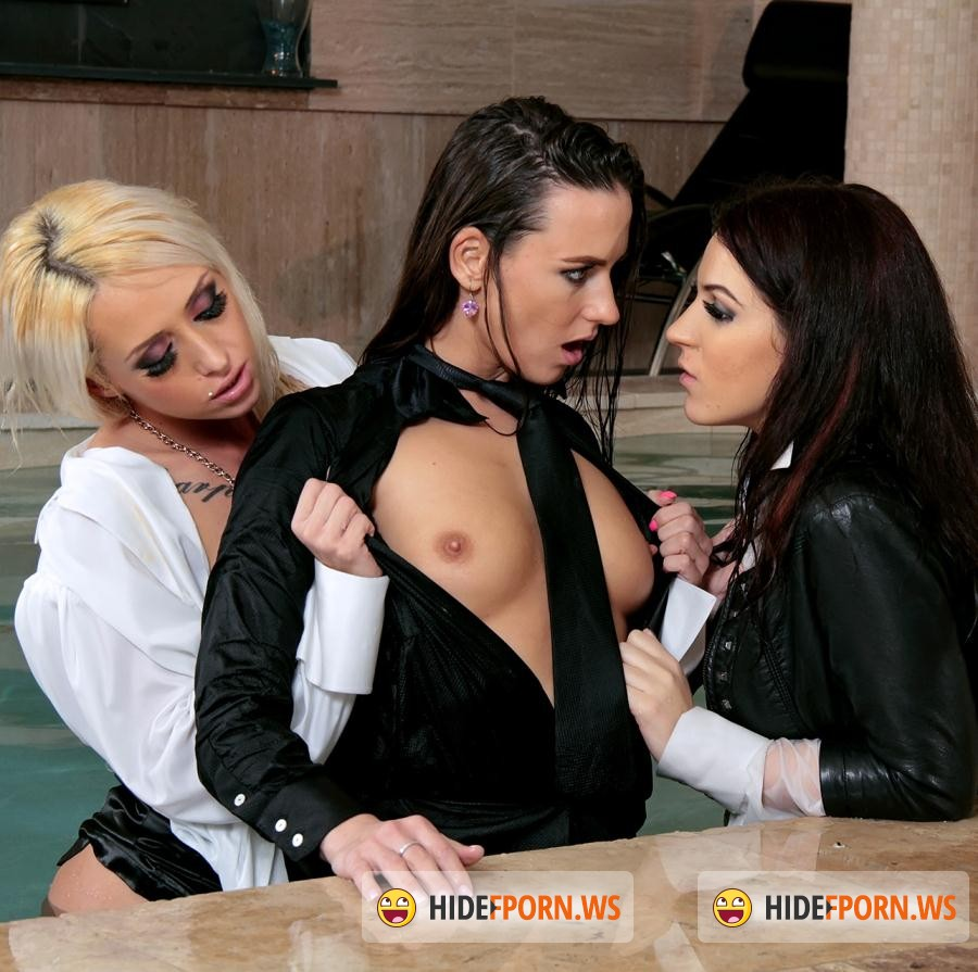 SDrive: Mea Melone,  Bella Beretta  - Leather Luxury, Silk Seduction and Lesbian Lust For Life - Attractive Asses On Wetlook Fire: Happy Hardcore!!! [HD 720p]
