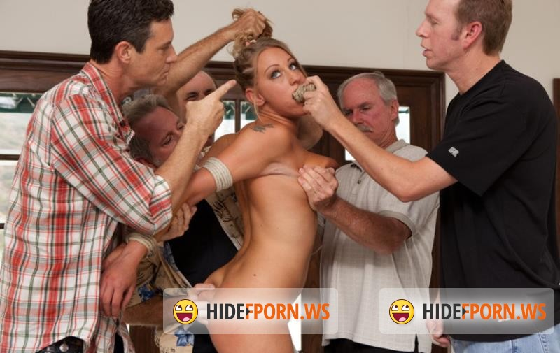 BoundGangBangs.com/Kink.com - Lizzy London - 19 Year Old With Big Natural Tits Gets Dicked Down by 5 Older Men [HD 720p]