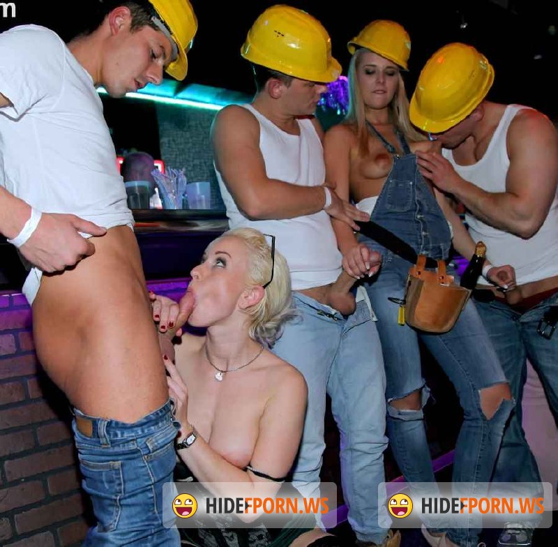 DrunkSexOrgy.com/Tainster.com -  Angel Piaf aka Chaynee, Barra Brass, Bibi Fox, Chelsy Sun, Eileen Sue, Eveline Dellai - COCKS N CLITS Construction Company Part 2 - Cam 2  [HD 720p]