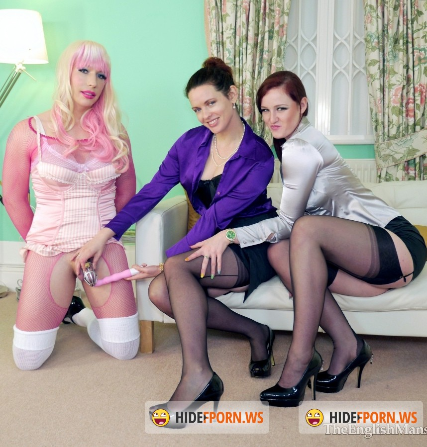English Mansion: Miss Vivienne lAmour, Ms Savannah Sly, Tiffany Real Doll - Spanked Stretched Sissy [HD 720p]