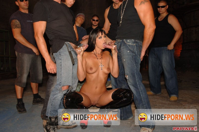 Private.com: Simony Diamond - Simony Diamond Gets a DP and Gives Several Blowjobs in This Gangbang [FullHD]