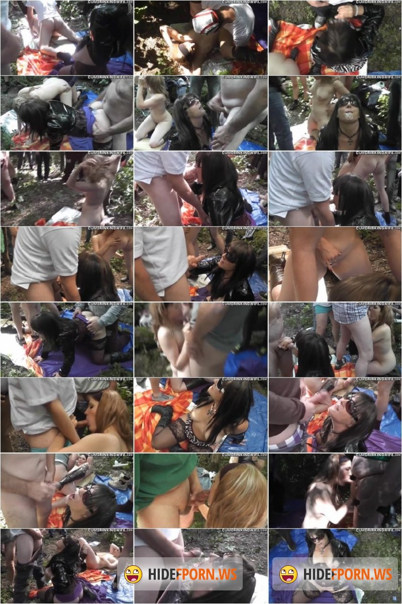 CumDrinkingWife.com - Marion - 20 men gangbang in the park - part 2 [SD 360p]
