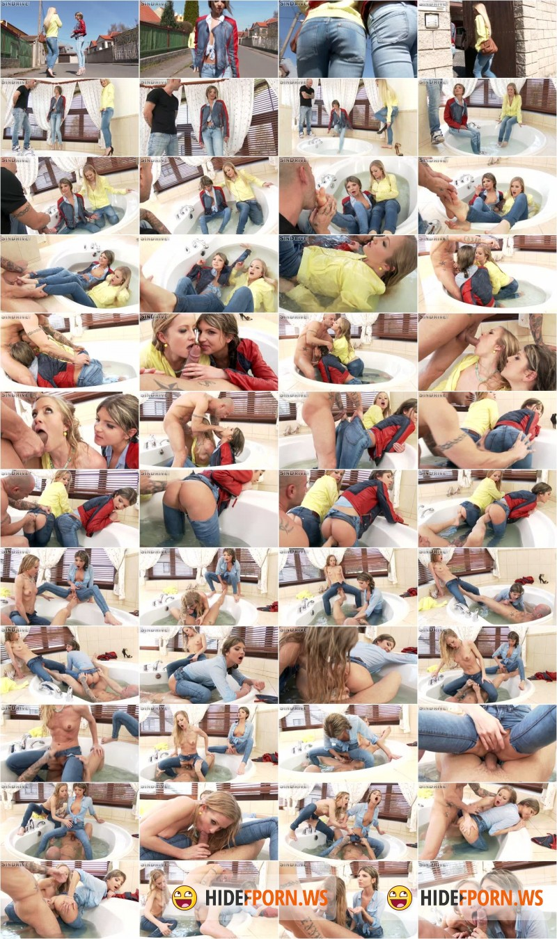 SinDrive - Sicilia, Gina Gerson - Delicious Denim Demolition: Uber-Cuties Sicilia & Gina Vs. Mike Angelo - An Ass & Pussy All Inclusive Bang [FullHD]