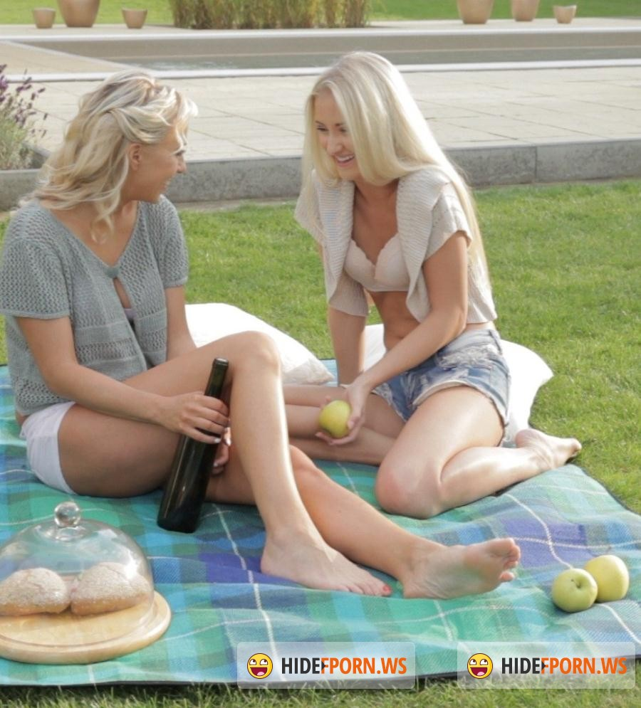 Knows Porn: Cayla Lyons, Carla Cox - Two European blonde angels on a lesbian picnic [SD 480p]