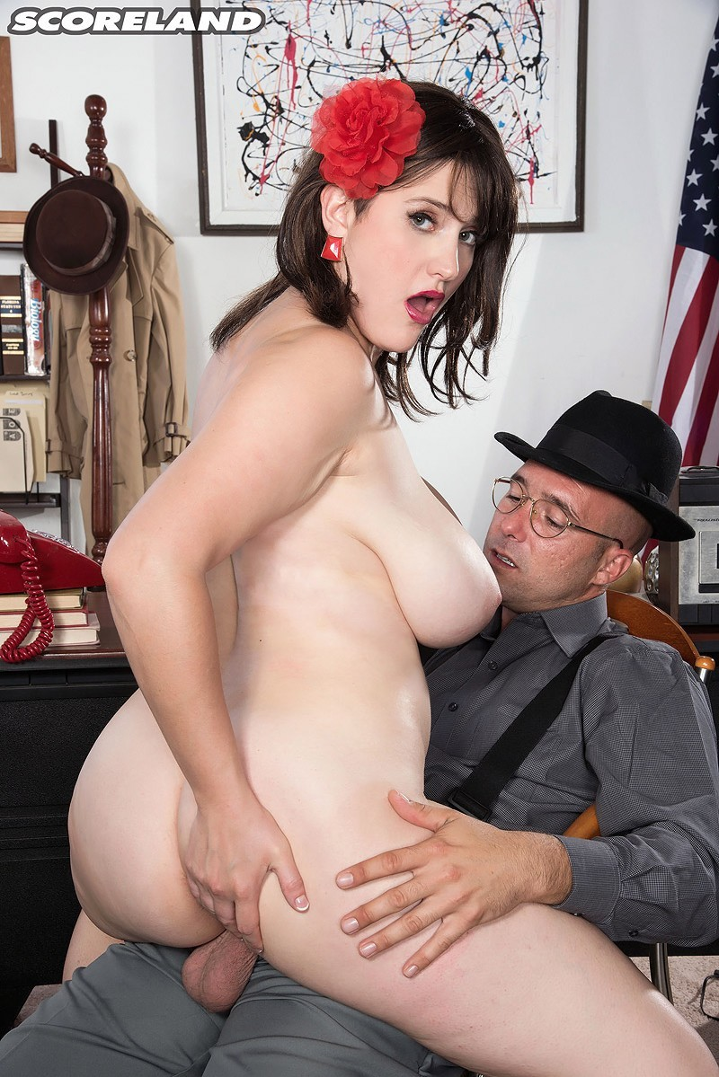 ScoreLand.com/PornMegaLoad.com - May West - A Private Dick For A Busty Mobsters Moll [SD]