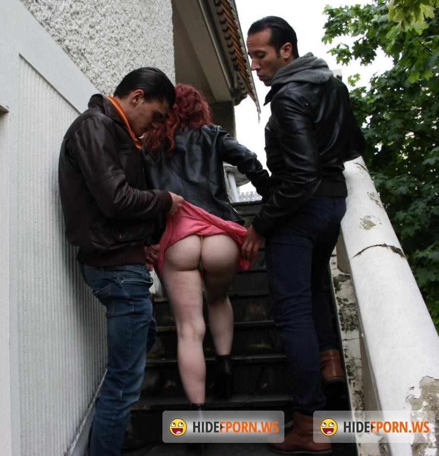 Cocho Porn: Serena - Slutty French redhead gets sandwhiched in dirty threesome [SD 480p]