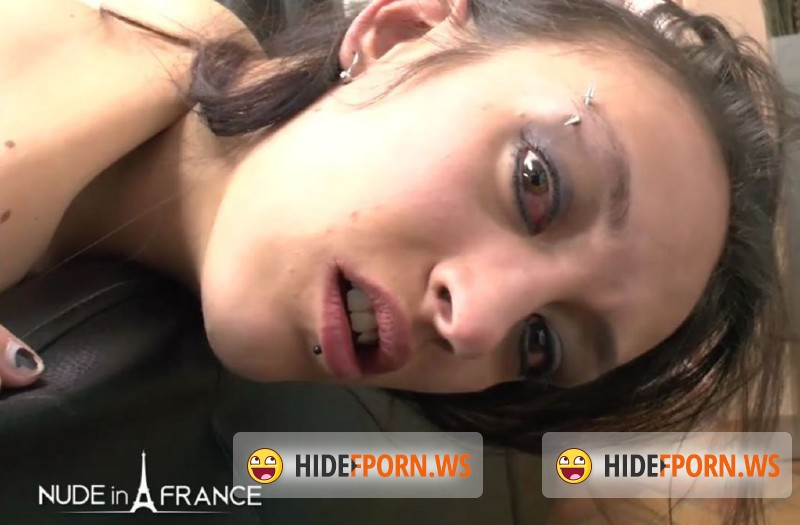 NudeInFrance.com - Mordicia - Casting of a skinny brunette getting her very 1st sodomy and double penetration before getting her face cum covered [HD 720p]