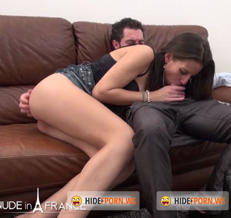 NudeInFrance.com - Marlene - Naughty brunette called Cock Service and gets hard banged and sodomized with cum in mouth to swallow [HD 720p]