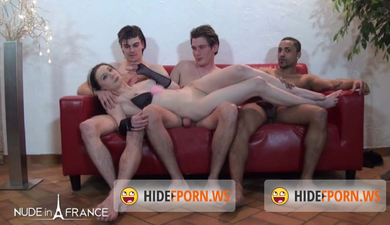 NudeInFrance.com - Lily Phoenix - Gangbang initiation for our pretty young brunette Lily [HD 720p]