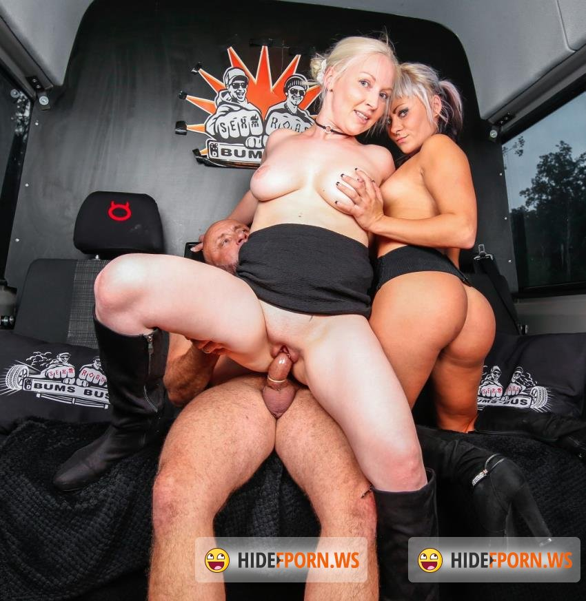 BumsBus/PorndoePremium - Jessy Key, Jean Pallett, BJ Cat - Horny blondies get cum in mouth in threesome [HD 720p]