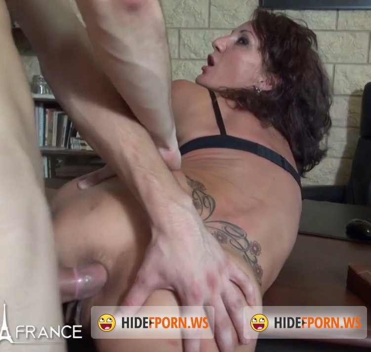 NudeInFrance.com - Lyna - Horny big titted Ceo cougar gets her ass pounded and her pussy fisted by her employee [SD 406p]