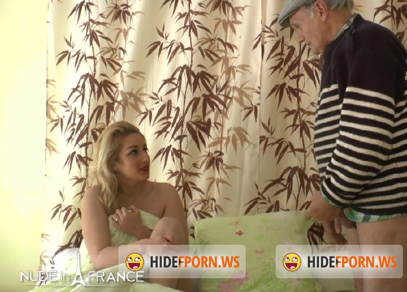 NudeinFrance.com - Papy Voyeur - Voluptuous blonde fucks horny old pervert [SD 406p]