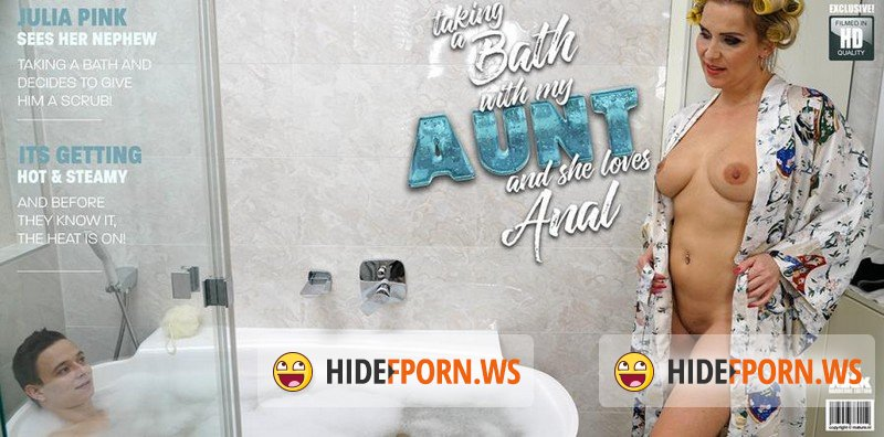 Mature - Julia Pink (42) - Anal Craving Loves To Share A Bath With Her Nephew [FullHD 1080p]