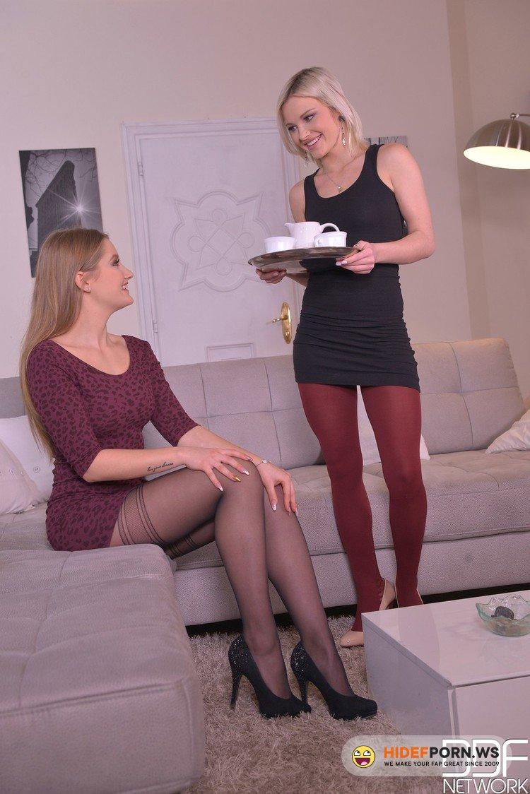 HotLegsAndFeet.com/DDFNetwork.com - Tiffany Tatum, Zazie Skymm - Pantyhose, Double Dong: Lesbians Stuff Their Tight Pussies! [FullHD 1080p]