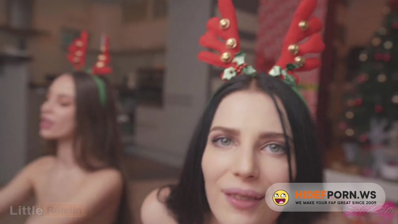 PornHub - SolaZola, LittleReislin - Christmas surprise for stepsister and her friend, Part 2 [FullHD 1080p]