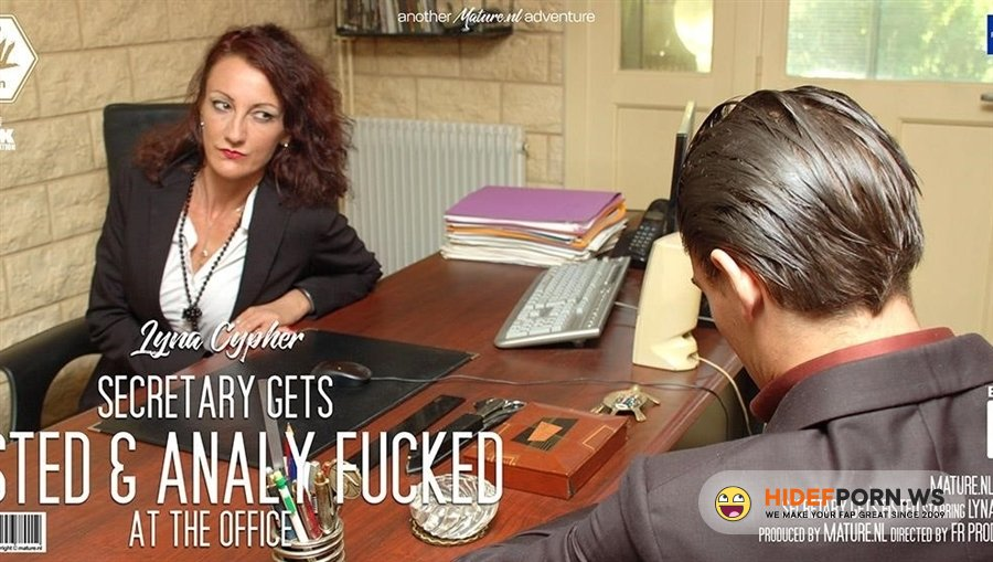 Mature - Lyna Cypher - Milf Secretary Gets Fisted And Fucked Up The Ass At The Office [2020/HD]