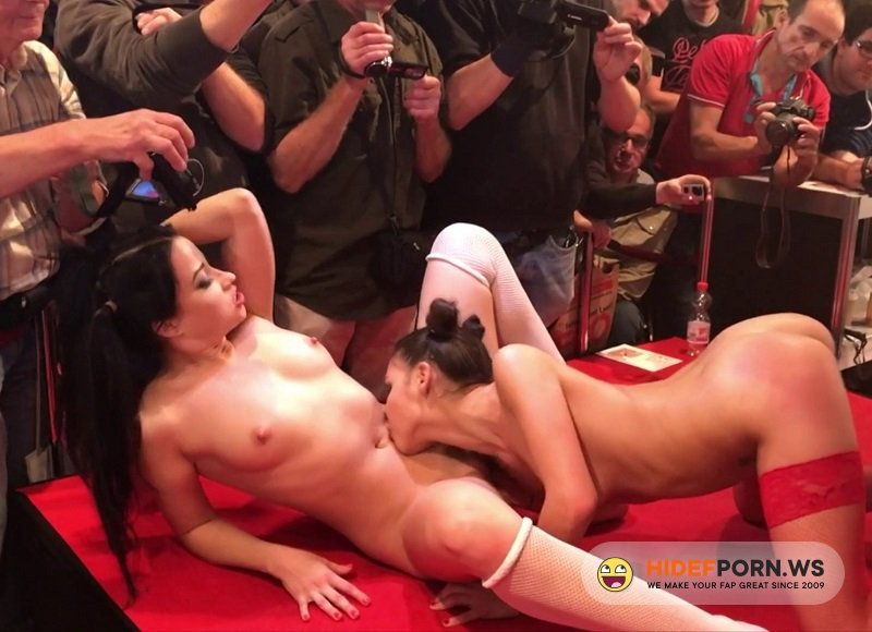 PublicFuck.com - Henessy and Taissia Shanti - Public Lesbian Fisting On Show [FullHD 1080p]