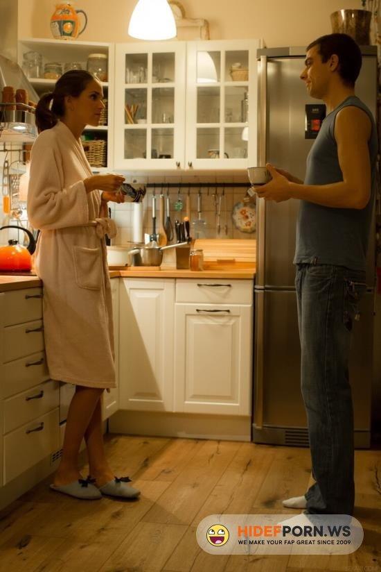 WowGirls.com - Silvie Deluxe - Romantic Sex On Night Kitchen [FullHD 1080p]