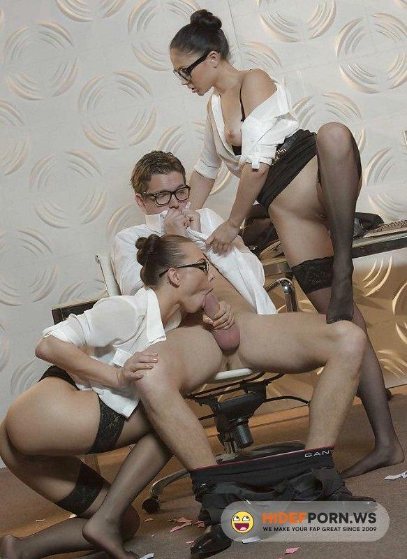 WowGirls.com - Aidra Fox and Ariana Marie - Threesome Sex In Office [FullHD 1080p]