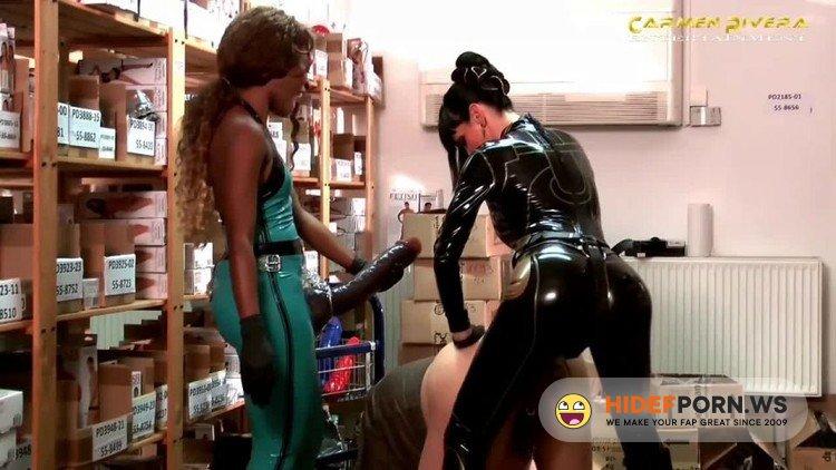CarmenRivera - CarmenRivera - Two Mistress Monster Strapon Domination To Slave In Sexshop [HD 720p]