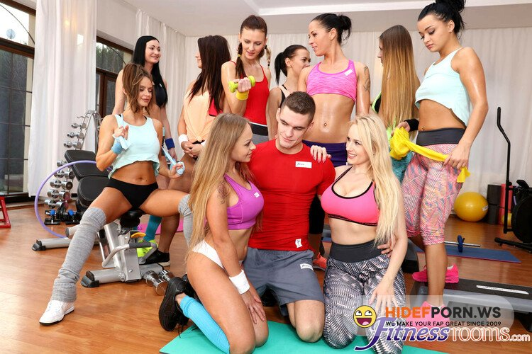 FitnessRooms.com - Angel Wicky, Katarina Muti - Busty gym babes big cock threesome [FullHD 1080p]