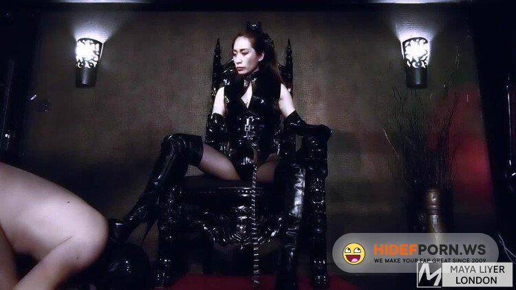 GoddessMayaLiyer - Goddess Maya Liyer - Boot Slave For Latex Goddess [FullHD 1080p]