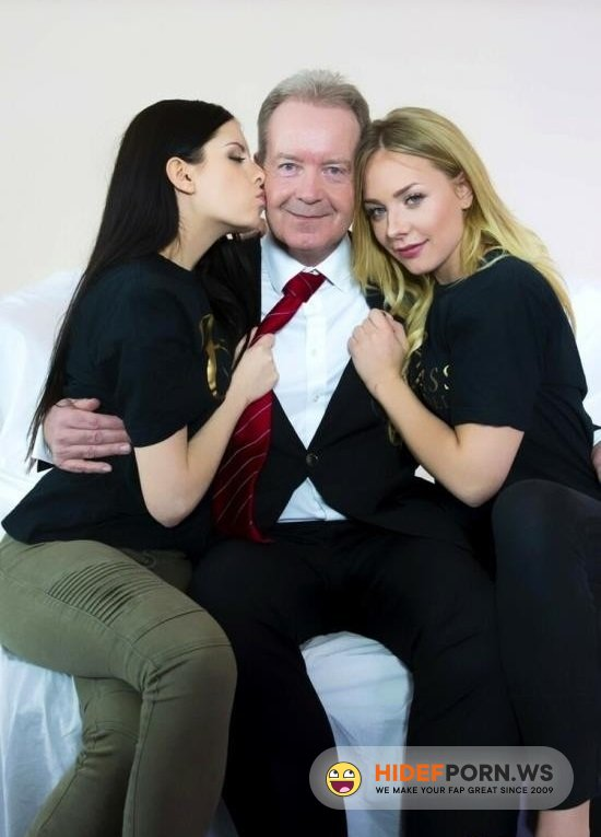BeautyAndTheSenior.com - Rebecca Volpetti and Angie Lee - Two Teen Want Fuck With Old Man [HD 720p]
