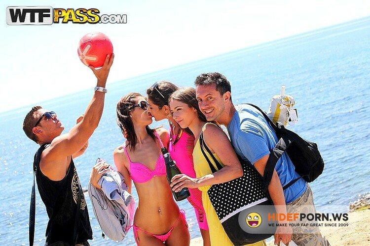 StudentSexParties.com/WTFPass.com - Agnessa, Carla, Leila - Real Sex Party On The Sunny Beach, Part 2 [HD 720p]
