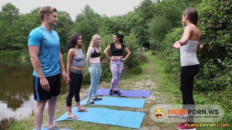 PureCFNM.com - Emma Leigh, Lola Rae, Satine Spark, Tina Kay - Outdoor Yoga [FullHD 1080p]