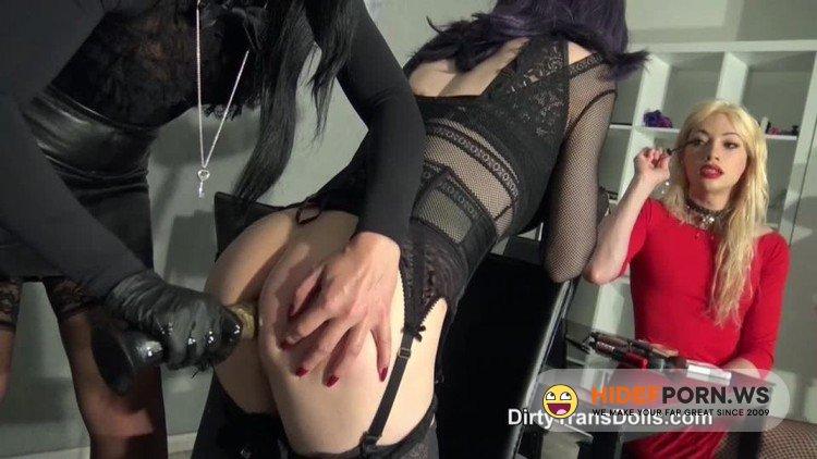 DirtyTransDolls - Sasha De Sade, Fetish Liza, Natalie Goth - Sashas Obedient Sissy Slave Part 2 [HD 720p]