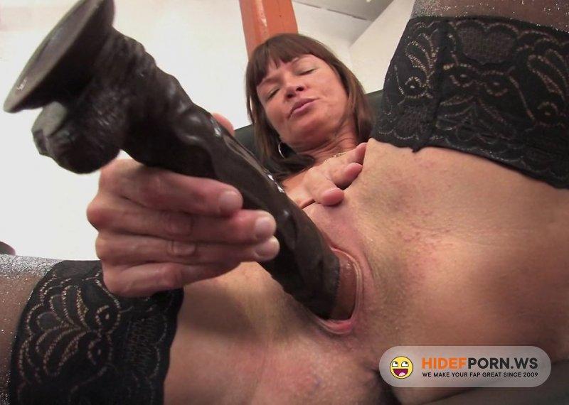 Mature.nl - Krystina - Naughty MILF Fucks Herself With A Big Dildo [FullHD 1080p]