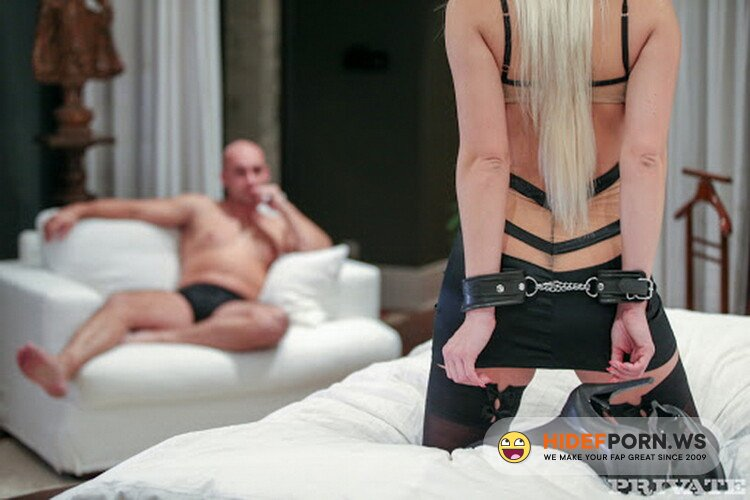 Private.com - Blanche Bradburry - Blanche Bradburry Is Handcuffed, Blindfolded and DPd by Two Men [FullHD 1080p]