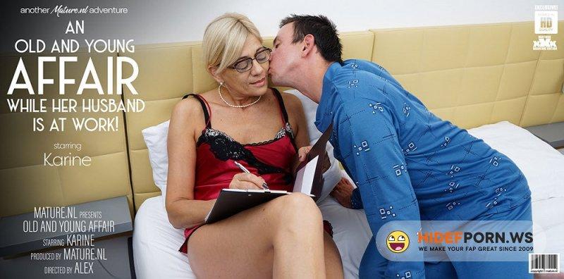 Maturenl - Karine C. - Mature Karine Loves Young Men In Her Bed While Her Husbands At Work [FullHD 1080p]