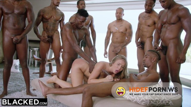 BLACKED - Lena Paul - Lena Paul first interracial gangbang [FullHD 1080p]