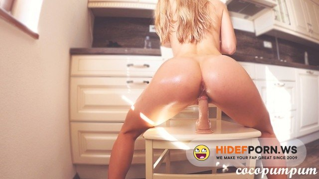 PornhubPremium - Cocopumpum - Perfect Babe With Oiled Ass Rides Dildo And Moans Loudly [2020/FullHD]