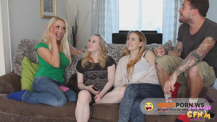 AmateurCFNM.com - Anna Darling, Satine Spark, Victoria Summers - Sock On A Cock [FullHD 1080p]