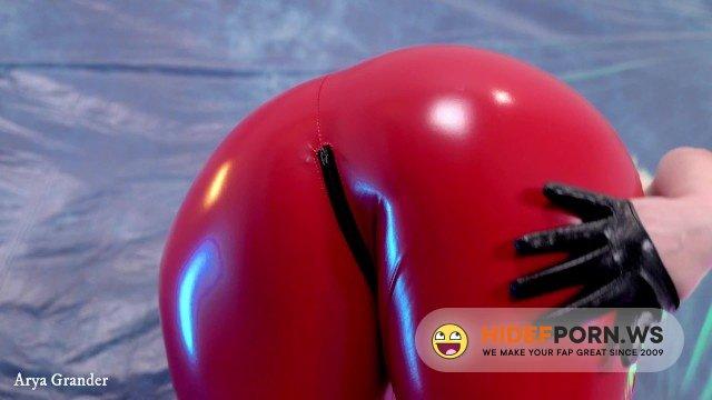 AryaGrander - Arya Grander - Hot PVC teasing fetish beautiful video. Mistress Arya Grander in red vinyl clothing [FullHD 1080p]