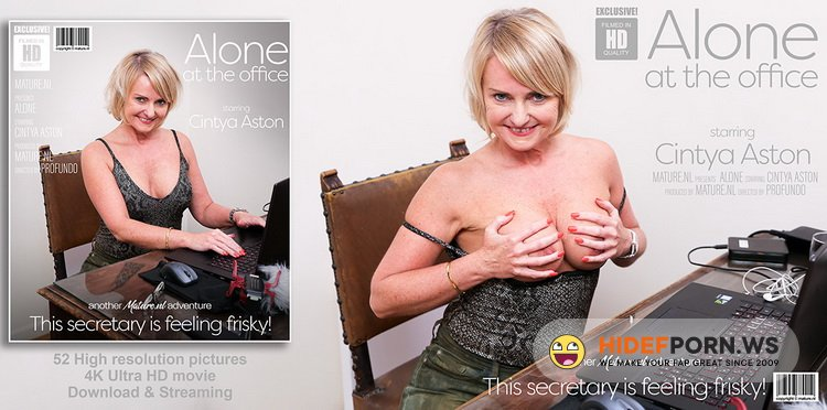 Mature.nl - Cintya Aston (EU) (51) - Alone at the office, this mature secretary starts to feel herself up [FullHD 1080p]