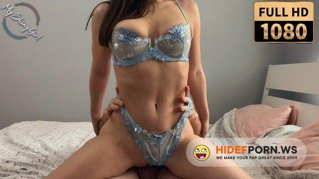 MyShinyGirl - MyShinyGirl - Stunning amateur brunette in blue lingerie loves to be passionately fucked. MyShinyGirl [FullHD 1080p]