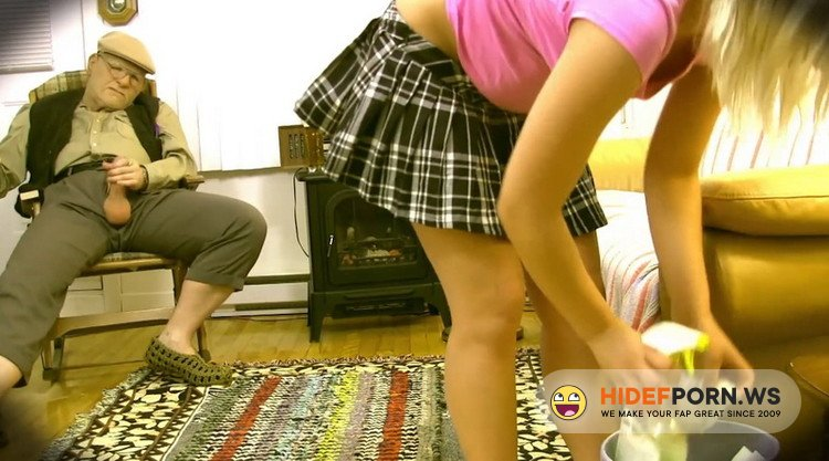 SpiceMySexLife - Christine Sucre - Grandpa Bangs Naive Blonde Teen Caretaker [FullHD 1080p]