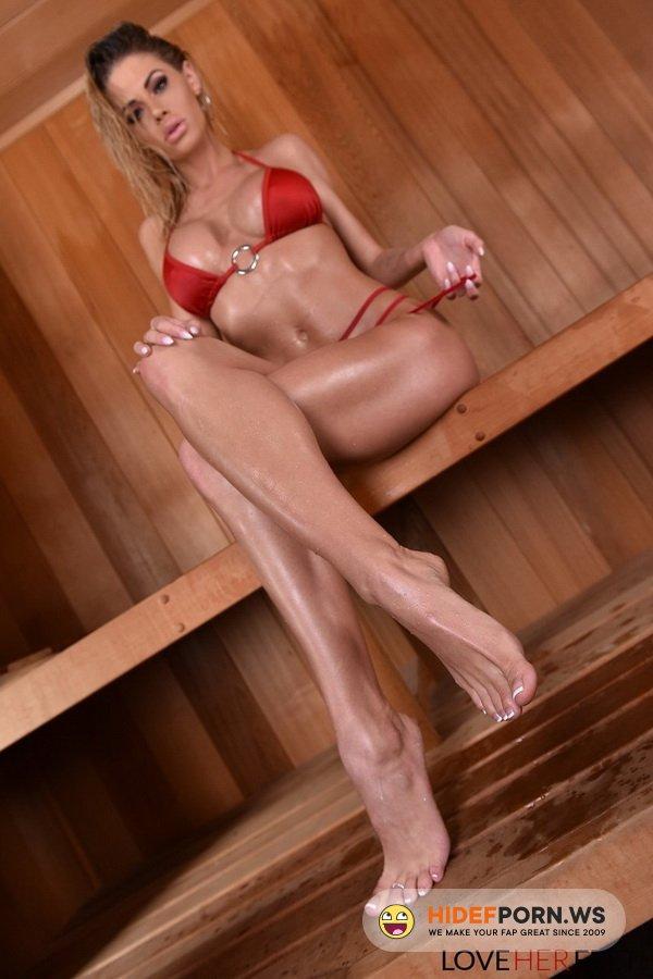 LoveHerFeet.com - Jessa Rhodes - Sneaky Sauna Sex [SD 480p]