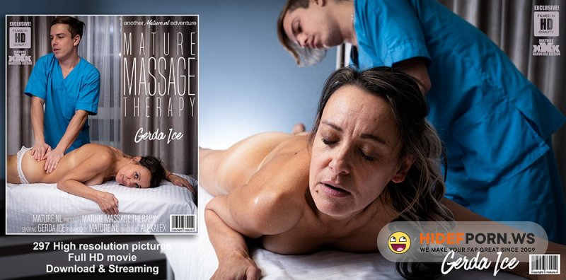 Mature.nl - Gerda Ice (52) - Hairy Gerda Ice gets a special massage from a naughty young therapist [FullHD 1080p]