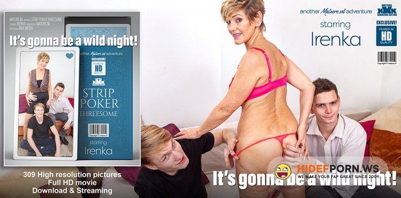 Mature.Nl - Irenka (61) - Stripoker Threesome With a Mature Slut And Two Toyboys [FullHD 1080p]
