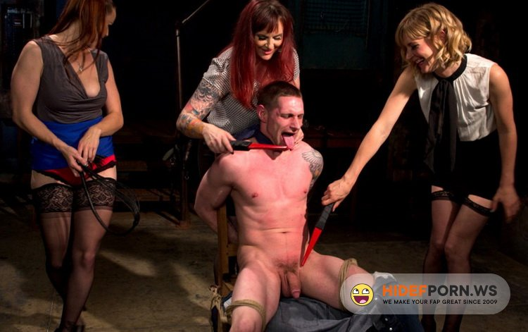 DivineBitches.com - Mz Berlin, Bella Rossi, Mona Wales, Jay Rising - Panty thief pumped full of viagra then teased and denied by three mean lingerie store bitches [HD 720p]