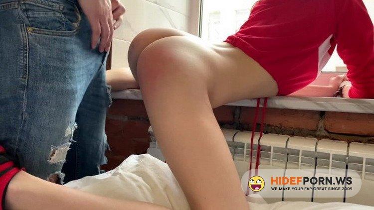 Porn.com - Cate Bieber - CUM INSIDE Stepsister spanked hard in front of neighbours [FullHD 1080p]